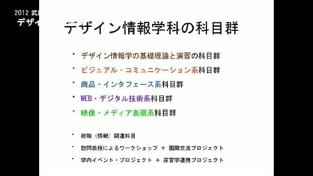 デザイン情報学科 - 2012進学相談会